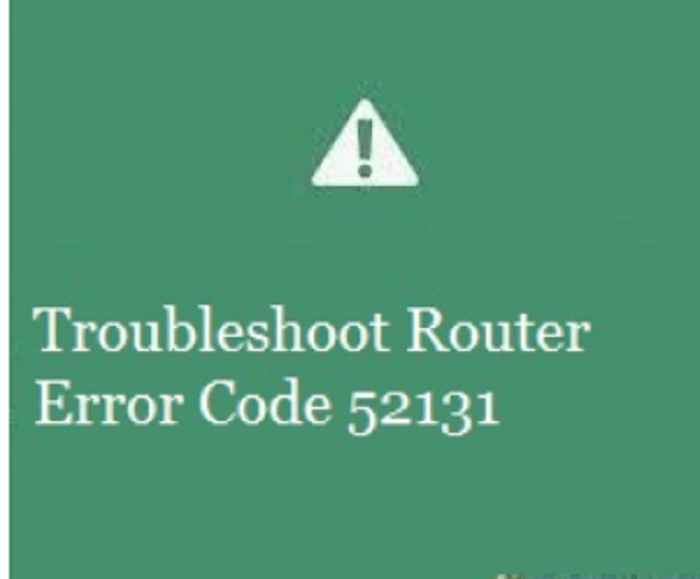 troubleshoot router error