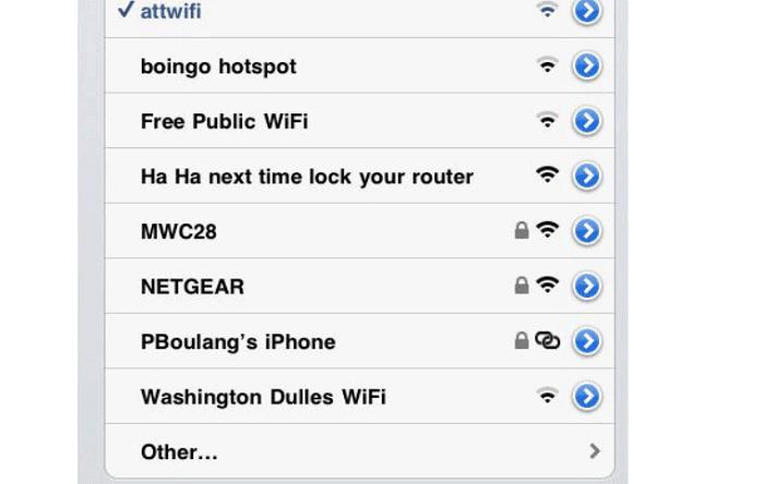 wifi name