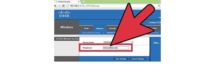 Change Cisco Router Wifi Password