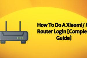 Mi Router Login