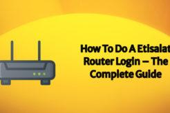 etisalat router login