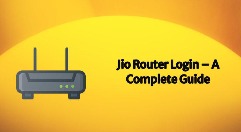jio router login