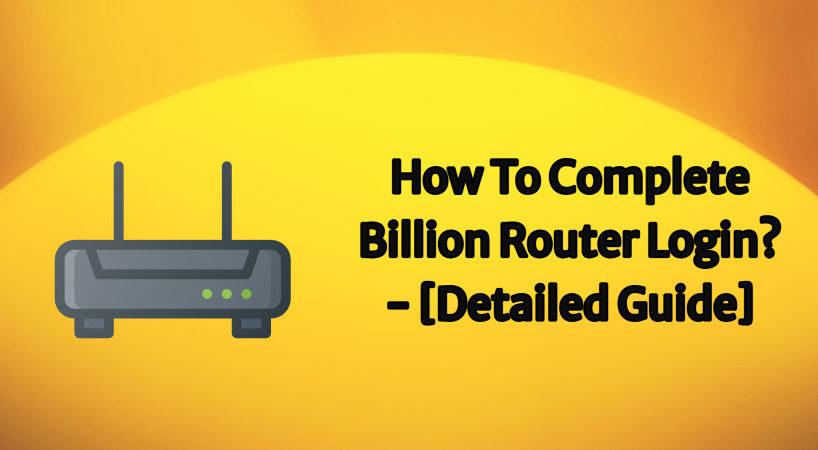 billion router login