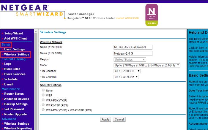 configure the netgear router properly