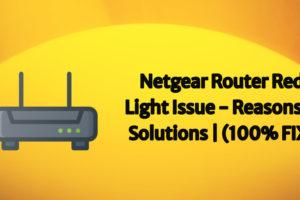 netgear router red light