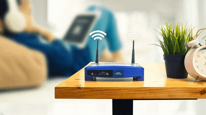 change your router location