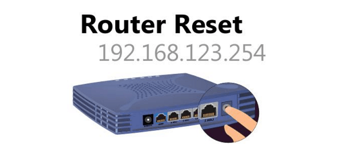 resetting router