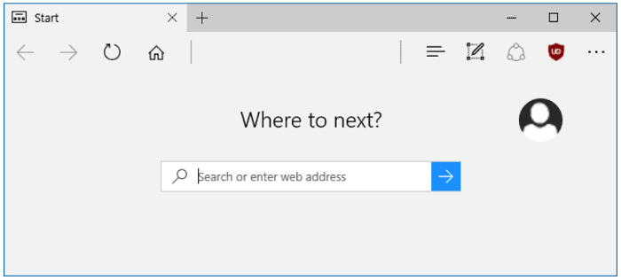 open a browser