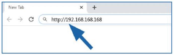type 192.168.168.168