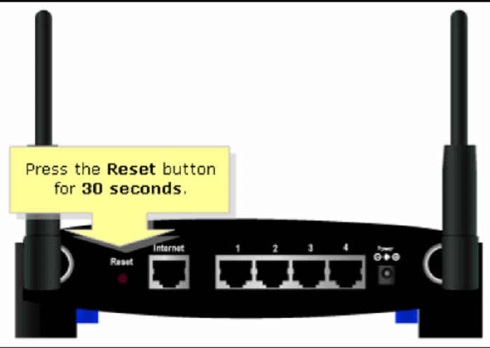 keep pressing the reset button